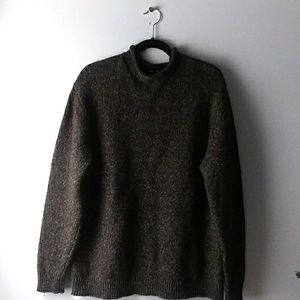 Mock Neck Sweater Tweed Look Clairborne